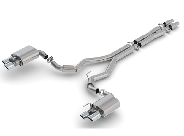 borla 140742 ford mustang gt cat back exhaust system s type 2018 2019