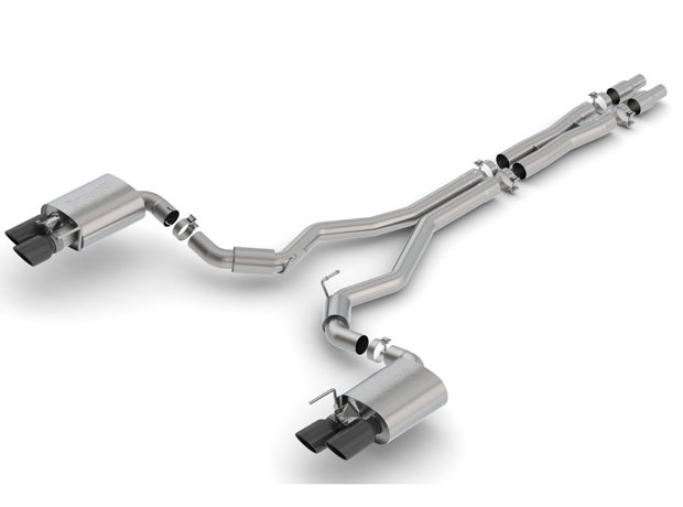 borla 140742bc ford mustang gt cat back exhaust system s type black tips 2018 2019