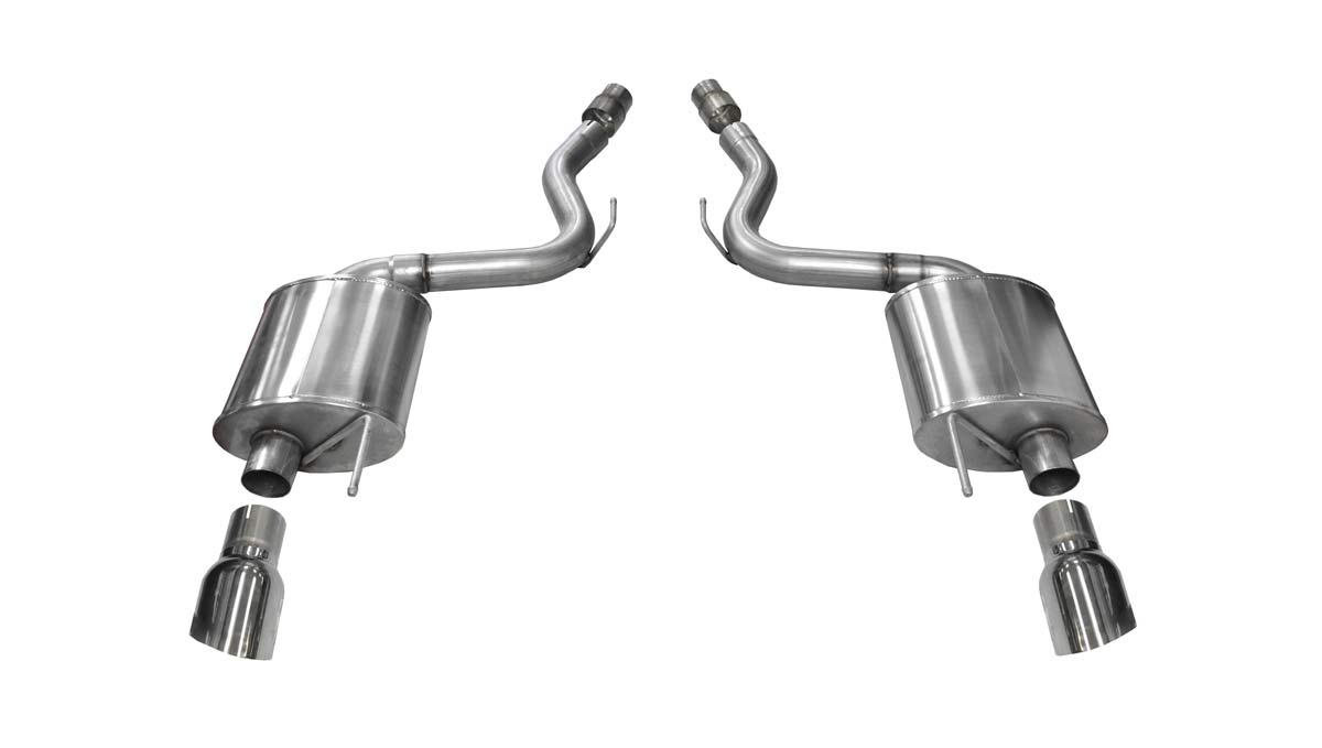 corsa performance 14329 corsa exhaust axle back mustang gt 5 0l touring single 4 5 polished tips 2015 2017