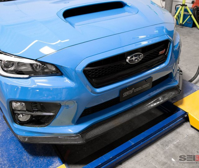 Seibon Fl15sbimp Mb1 Carbon Fiber Mb1 Style Front Lip Subaru Impreza Wrx