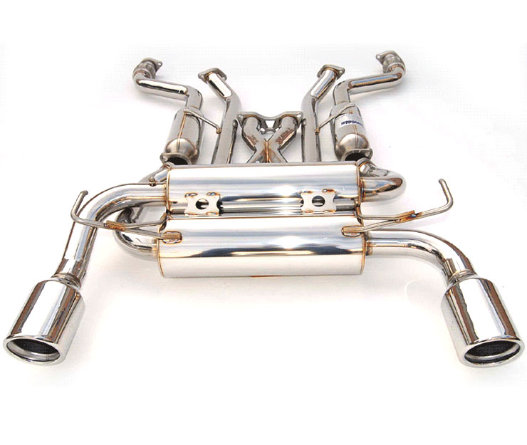 invidia hs03ig3gis g35 coupe gemini rolled s s tips cat back exhaust system 2003 2006