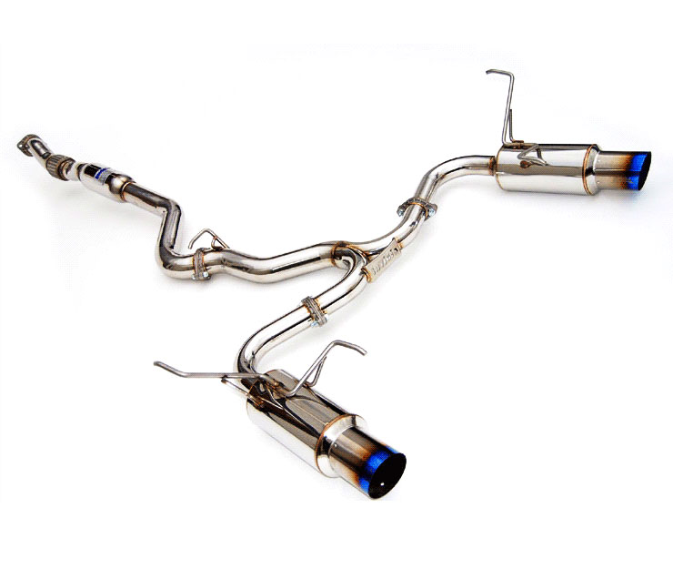 invidia hs11stigtt forester xt 2 5l n1 twin out let titanium tip cat back exhaust system 2009 2013