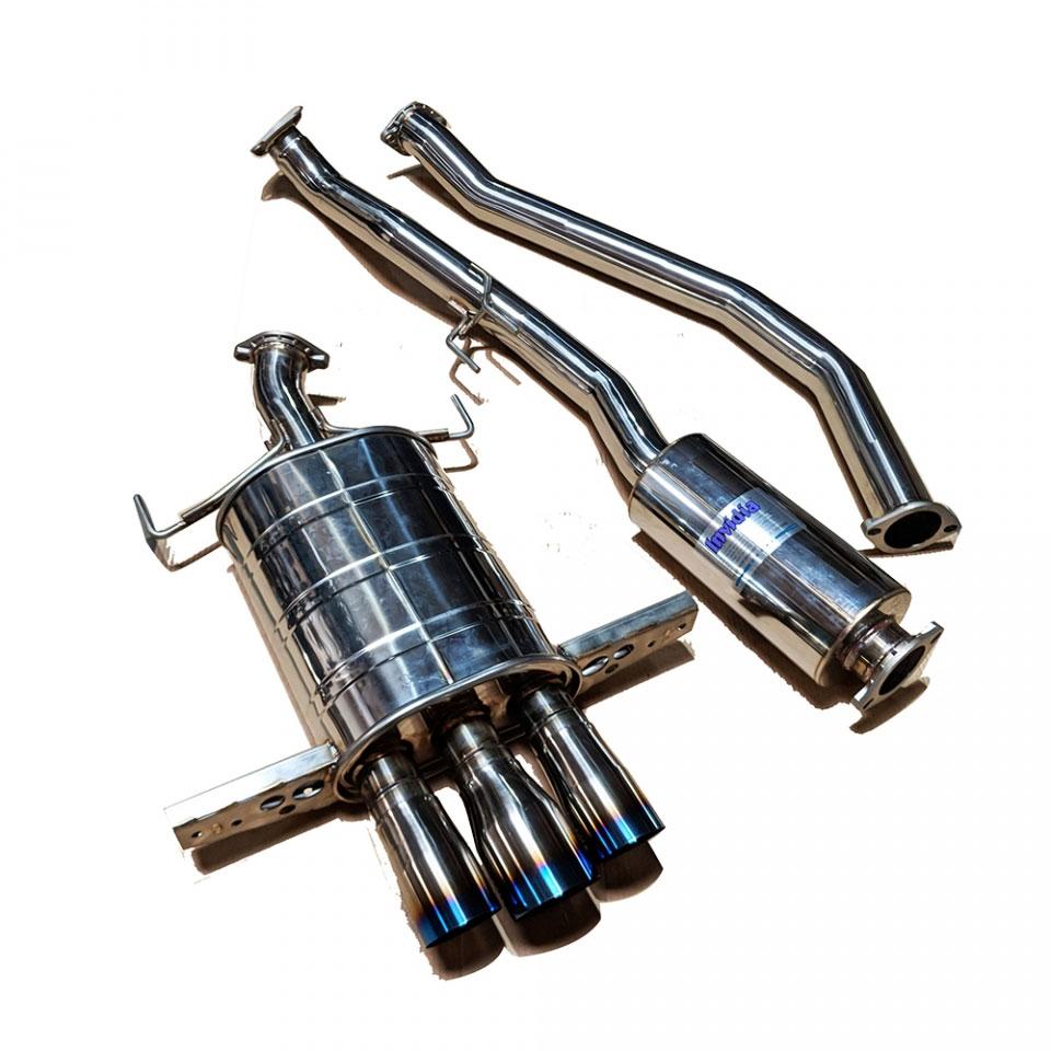 invidia hs17chb7q33st civic si hatchback q300 cat back exhaust system with titanium burnt tips 2017 2020