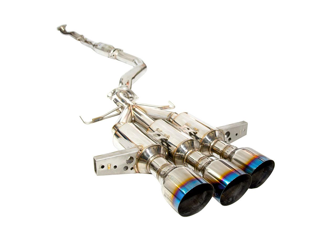 invidia hs17ctrfgm3st civic type r fk8 r400 cat back exhaust system titanium burnt tips 2017 2020