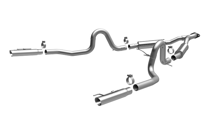 1999 2004 ford mustang exhaust system magnaflow pipes