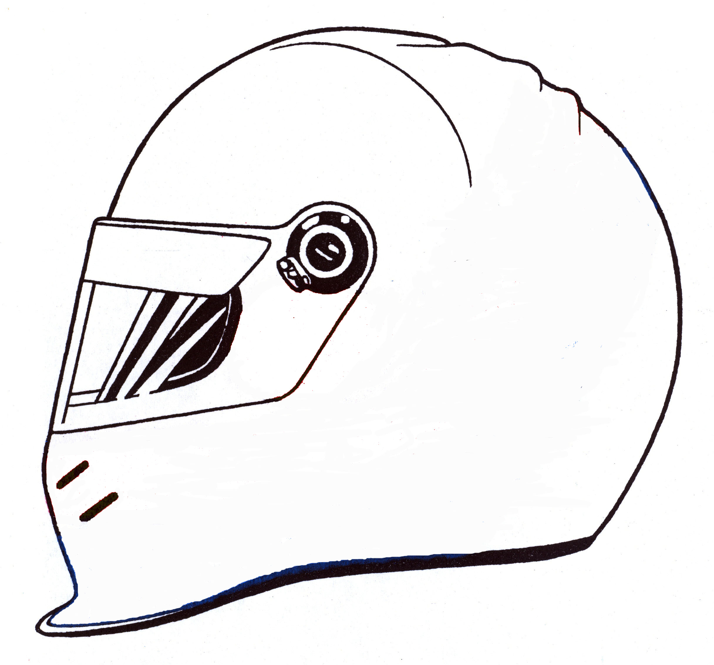 race car helmet colouring pages