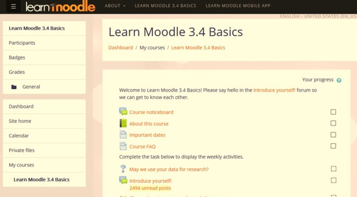 "The Brand New ""Learn Moodle 3.4 Basics"" MOOC Is Officially Open"