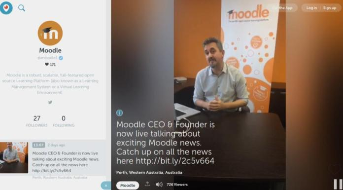 Follow The Official Moodle Channel On Periscope.tv