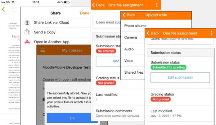 How To Submit Assignments To Your Classes In Moodle Mobile For iOS