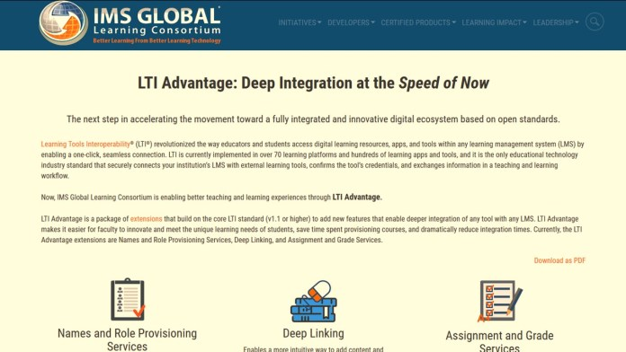 IMS Global Launches LTI Advantage Program