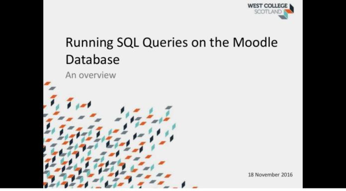 Sneak Under The SQL Hood Of Moodle With This Presentation