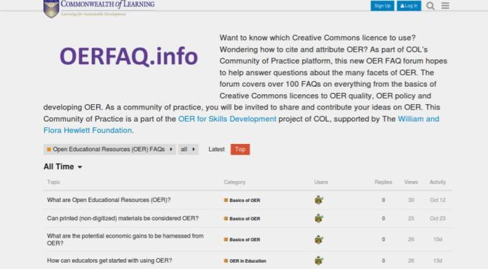 Think OERFAQ.info For All Your OER Needs