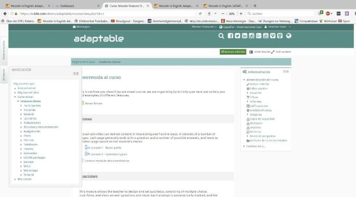 "Updates To ""Adaptable"" Theme, The Riverber Of Your Moodle Layout Ideas"
