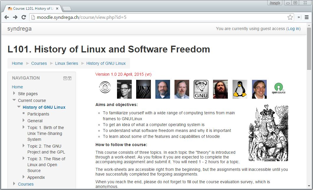 Free Course to Download or Demo: History of Linux and