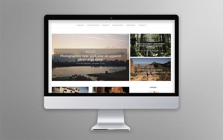 Création blog voyage WordPress