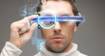 man in futuristic glasses