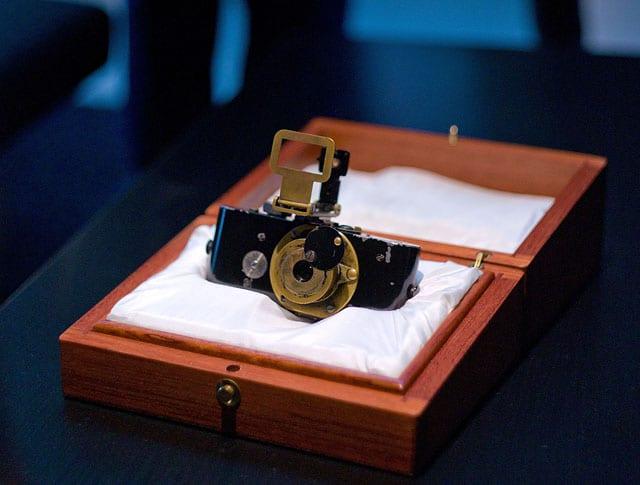 המצלמה של ברנק, אחד משניים או שלושה אבות טיפוס שיצר. המצלמה שבתמונה שוכנת לבטח בכספת של לייקה, ושוחזרה אחרי שריפה. צילום: Thorsten Overgaard