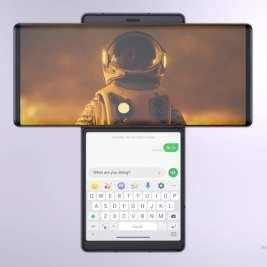 LG Wing 5G עם וידאו ומסך צ'אט