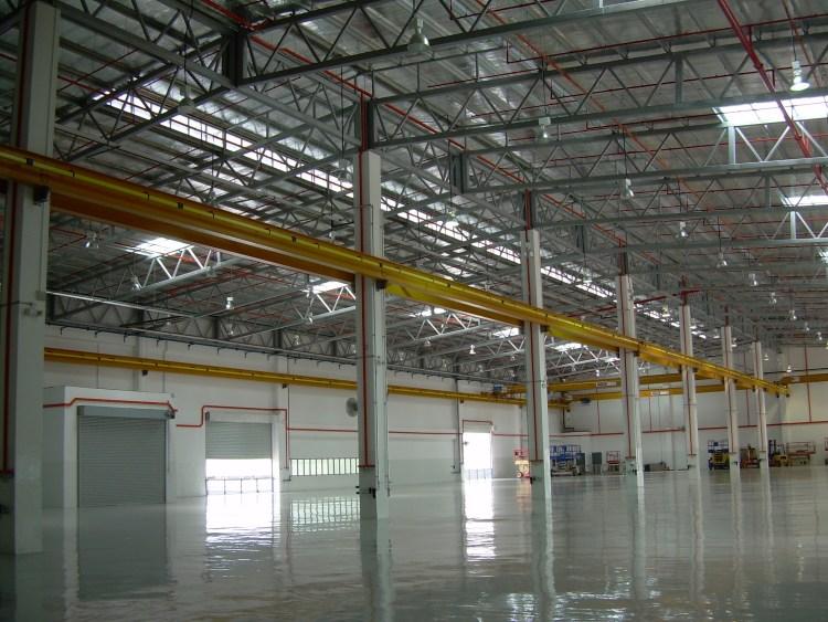 Interior view of NORDAM's Aircraft Repair Factory at Changi North, Singapore