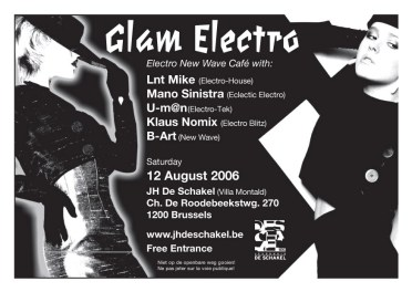 Flyer Glam Electro 2006