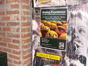 Flyers Analog Experience at UCL Woluwe lol