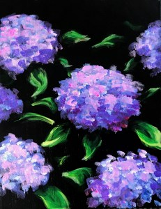 Hydrangeas | The Loaded Brush Paint & Sip | loadedbrushpdx.com