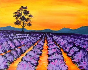 Lavender Farm | The Loaded Brush Paint & Sip | loadedbrushpdx.com