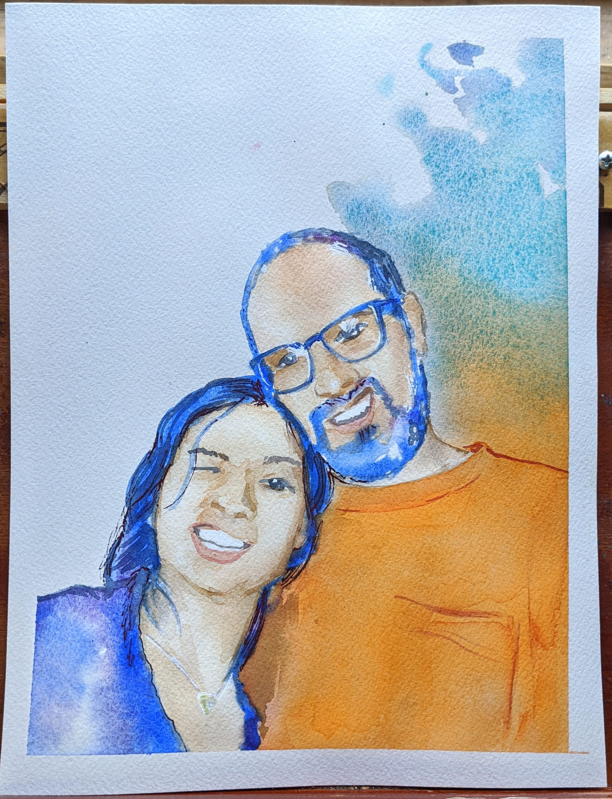 "Watercolor Portrait by Aaron Ziobrowski | The Loaded Brush | 9"" x 11"""