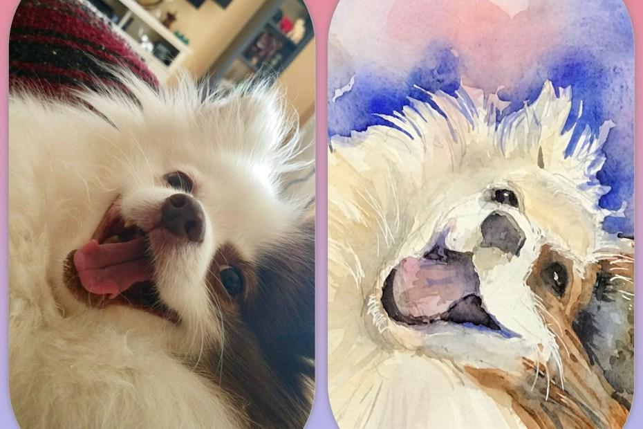 Watercolor Pet Portrait | The Loaded Brush