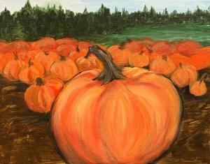 New Painting ~ Harvest Pumpkins
