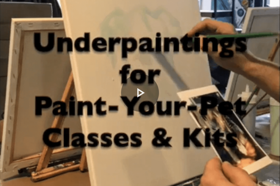 Paint Your Pet Class ~ Time-lapse Pre-Sketching the Canvases | www.loadedbrushpdx.com | Portland, OR
