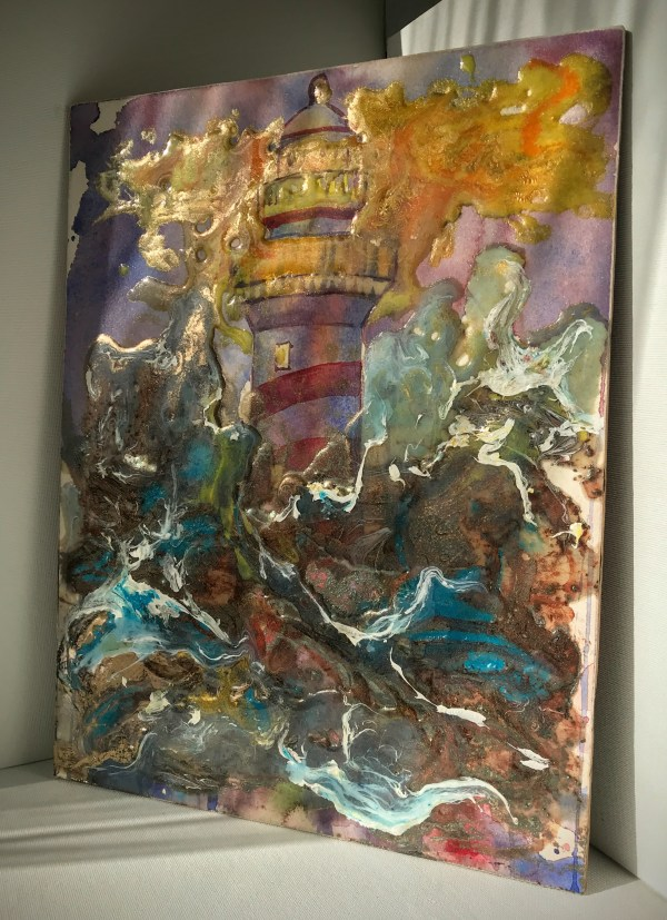 To Defy and Define the Darkness   Epoxy Resin and Mixed Media Painting on Panel   www.loadedbrushpdx.com