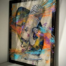 Shades of Voice   Epoxy Resin and Mixed Media Painting   www.loadedbrushpdx.com