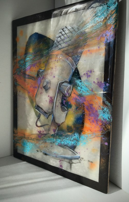 Shades of Voice | Epoxy Resin and Mixed Media Painting | www.loadedbrushpdx.com