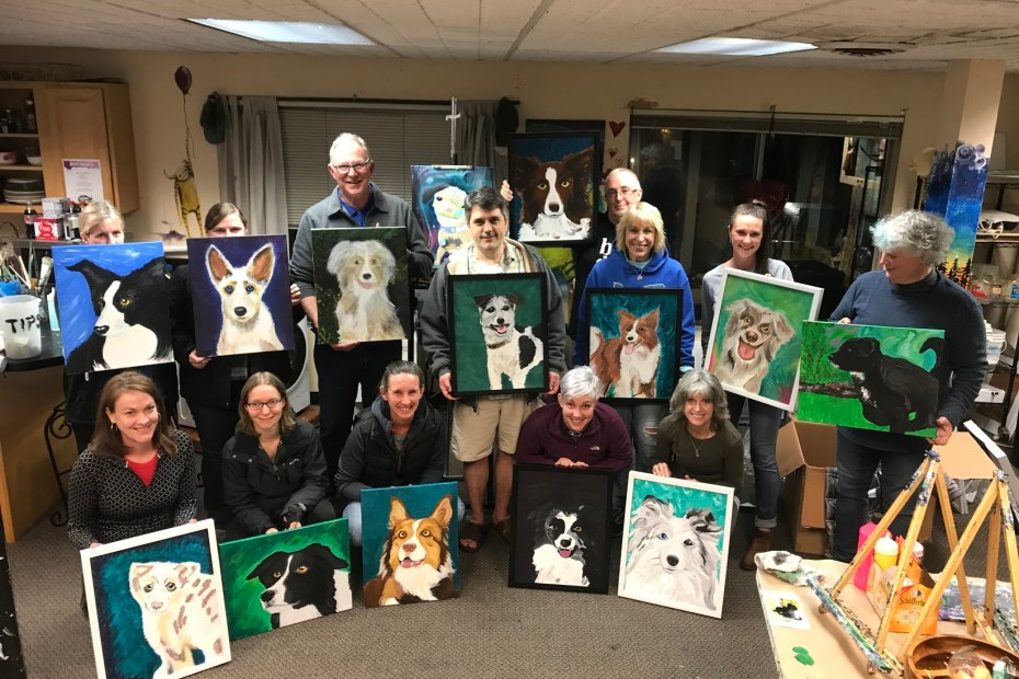 Paint-Your-Pet Private Event | The Loaded Brush Paint & Sip Classes | loadedbrushpdx.com