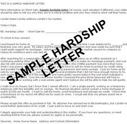 Mortgage Refinance Hardship Letter For Mortgage Refinance