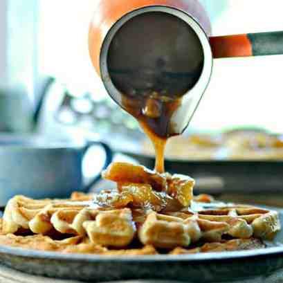 Apple Pecan Waffles