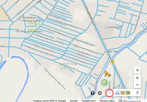 Google Street View - Kako koristiti - Borca