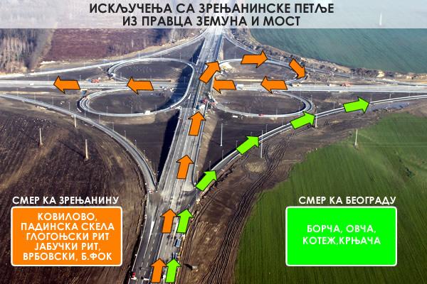 Isključenje sa Zrenjaninske petlje iz pravca Zemuna i novog mosta - 2014