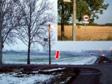 Uništen znak zabrane skretanja u Kovilovu
