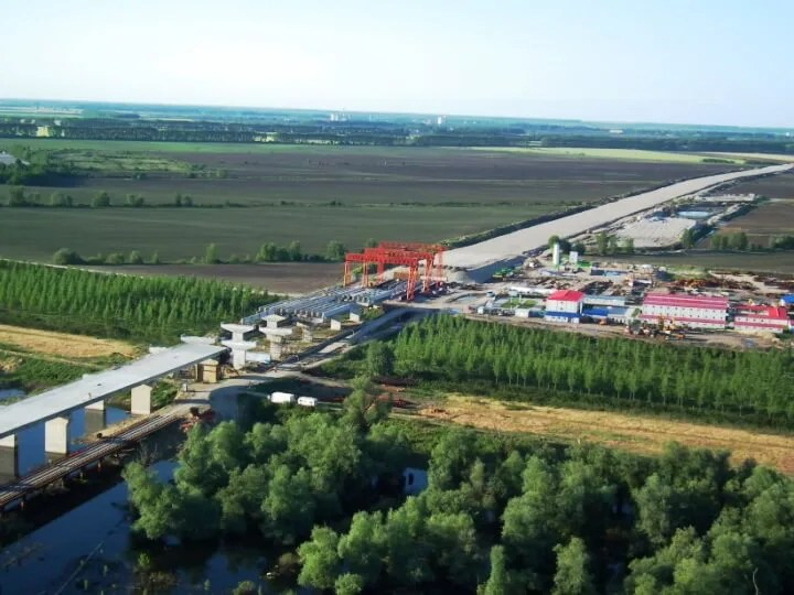 Most Borča – Zemun i petlja Zrenjaninski put iz vazduha - 18.05.2013
