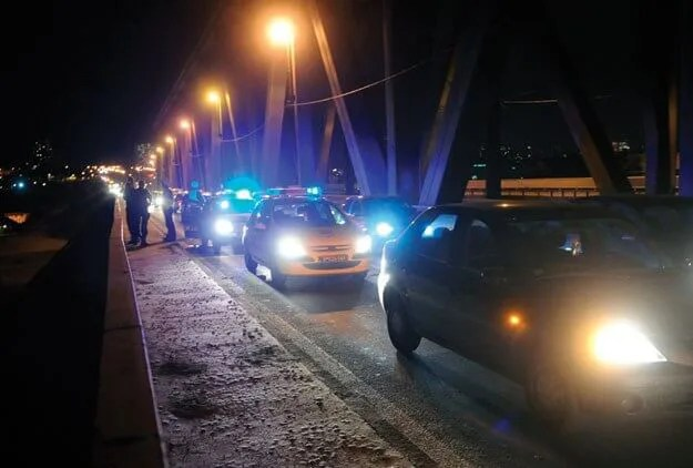 Pokušaj skoka sa Pančevačkog mosta - 02.09.2013