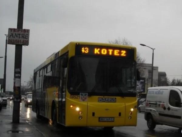 Izmenjen režim autobusa na liniji 43