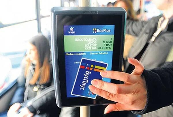 Bus Plus validiranje kartice