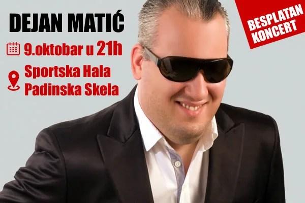 Besplatan koncert Dejana Matića u Padinskoj Skeli-2015