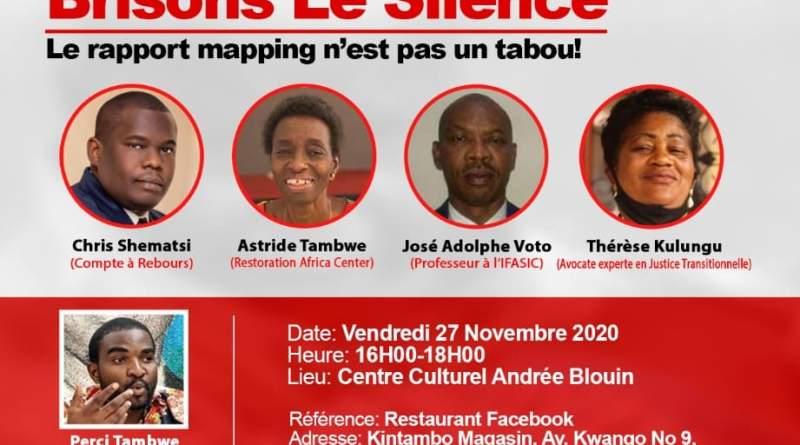 Conférence sur ''Brisons le silence'' ce vendredi au Centre Culturel Andrée Blouin