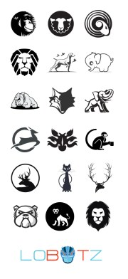 Outstanding Black And White Animal Logos Collection