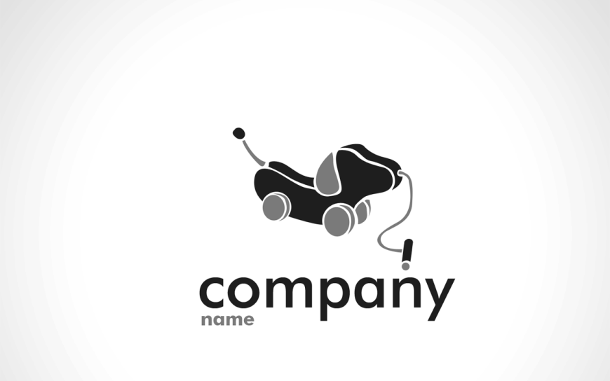 cute dog logo for business