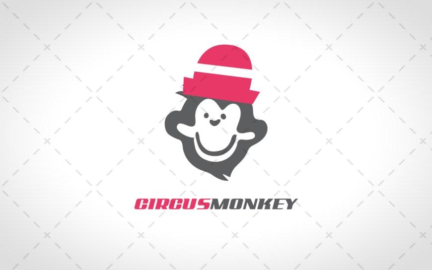 Circus Monkey Head Logo For Sale