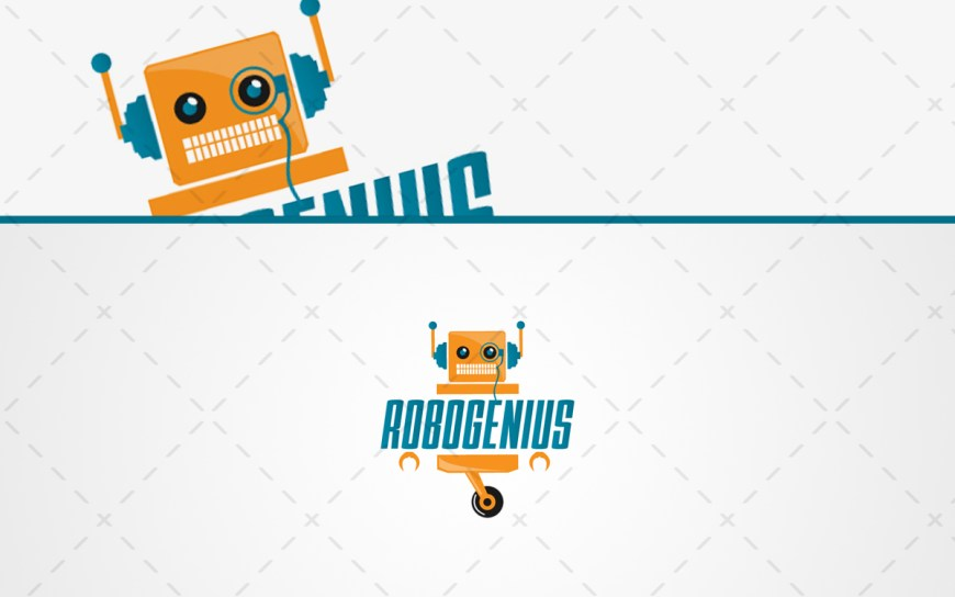 genius robot logo for sale